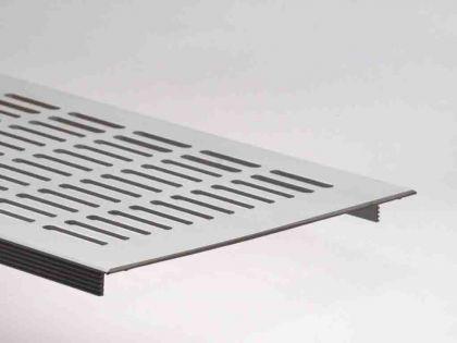 Aluminium Lüftungsgitter Stegblech Heizungsdeckel Silber eloxiert 150mm x 400mm
