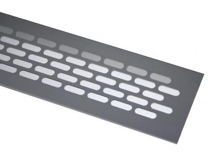Aluminium Lüftungsgitter Stegblech Heizungsdeckel Silber eloxiert 60mm x 480mm