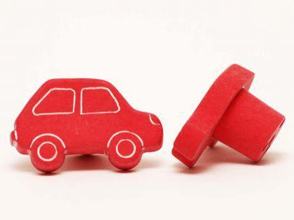 Möbelknopf Schrankknopf fürs Kinderzimmer Modell Rotes Auto Breite 40mm
