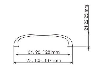 M belgriff m belknopf schubladengriff edelstahl optik for Mobelgriffe edelstahl 128 mm