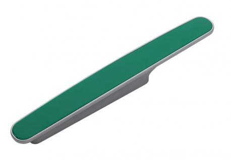 Möbelgriff Küchegriff Mod Chamäleon Grün Sockel chrom Lochabstand 96mm