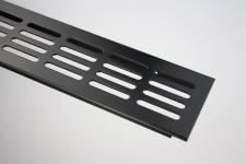 Aluminium Lüftungsgitter Stegblech - Schwarz pulverbeschichtet - Breite 60 mm - diverse Längen Aluminium Lüftungsgitter Stegblech - Schwarz pulverbeschichtet - Breite 60 mm - diverse Längen