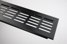 Aluminium Lüftungsgitter Stegblech - Schwarz pulverbeschichtet - Breite 80 mm - diverse Längen