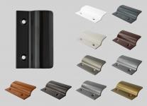 Balkontürgriff Ziehgriff Terrassentürgriff aus Metall - schwarz - Länge 62 mm