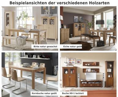 Wohnwand Wohnzimmerwand Wohnzimmer TV Buche massiv Landhaus lackiert braun - Vorschau 4
