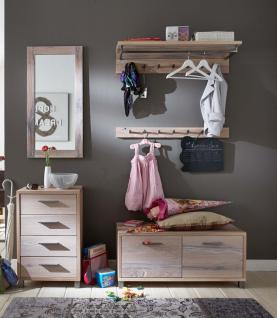 Garderobenset Garderobenmöbel Balken Eiche massiv White Wash rustikal Flur Diele - Vorschau 1