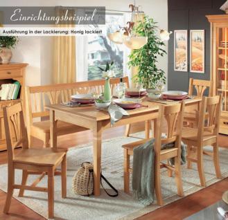 Stuhl Stühle Esszimmerstuhl 2er Set Küchenstuhl Esszimmer Fichte massiv weiß - Vorschau 5