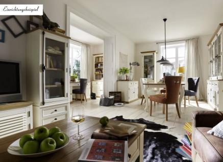 Buffet + Regaleinheit Bücherregal Pinie Wildeiche massiv geölt antik weiß shabby - Vorschau 2