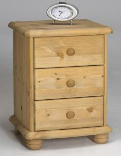 kommode nachtkommode beistellkommode 3 schubladen kiefer. Black Bedroom Furniture Sets. Home Design Ideas