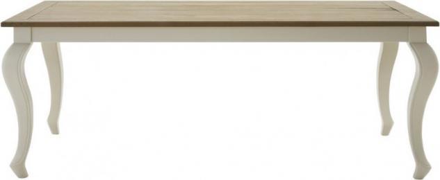 Esstisch Küchentisch Tisch 160 Pinie Wildeiche massiv geölt antik weiß barock - Vorschau 1