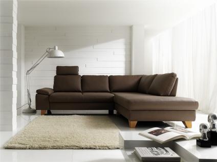 Ledergarnitur Wohnlandschaft Polsterecke Garnitur Couch mit Funktion Echtleder - Vorschau 2