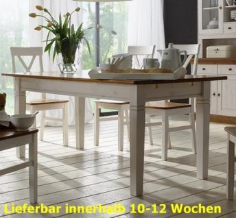 Esstisch Esszimmertisch Tisch 120x78 cm Landhausstil Kiefer massiv - Vorschau 1