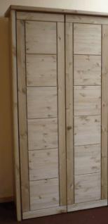 Kleiderschrank Schrank Schlafzimmerschrank Kassettenfront Kiefer massiv