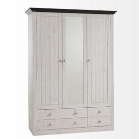Kleiderschrank Schrank Schlafzimmerschrank Kiefer massiv - Vorschau 1