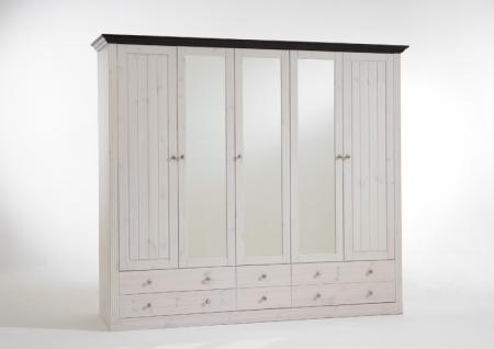 schlafzimmer komplett kleiderschrank bett nako kiefer massiv kaufen bei saku system vertriebs gmbh. Black Bedroom Furniture Sets. Home Design Ideas