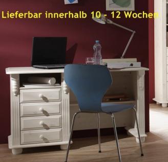 Schreibtisch Arbeitstisch Bürotisch Computertisch Landhausstil Kiefer massiv - Vorschau 1