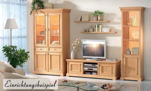 Bücherregal Bücherschrank Schrank Regal Wohnzimmer Fichte massiv honig gewachst - Vorschau 2