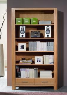 Bücherregal Regal Wohnzimmerschrank Bücherschrank Kernbuche massiv geölt natur - Vorschau 1