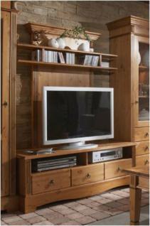 TV-Schrank Fernsehschrank TV-Lowboard TV-Bank mit Medienpaneel Kiefer massiv - Vorschau