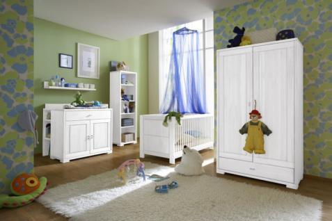 Babyzimmer Kinderzimmer komplett Babybett Schrank Wickelkommode Kiefer massiv - Vorschau 2