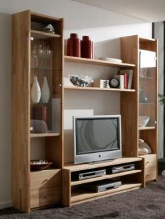 Wohnwand Anbauwand TV-Regal Kernbuche Kiefer Wildeiche massiv