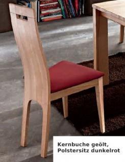 Stuhl Set Stühle Sitz Polstersitz Esszimmerstuhl Eiche massiv geölt edel - Vorschau 3