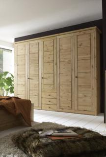 Kleiderschrank Schrank Schlafzimmerschrank 5türig Kiefer massiv - Vorschau 4
