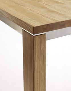 Essgruppe Essbankgruppe Esszimmer Tisch Bank Stühle Eiche massiv geölt natur - Vorschau 3