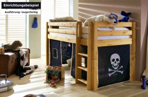 hochbett bett kinderbett kinderzimmer etagenbett kiefer. Black Bedroom Furniture Sets. Home Design Ideas