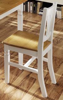 Stuhl Stühle Esszimmerstuhl 2er Set Küchenstuhl Esszimmer Fichte massiv weiß - Vorschau 1