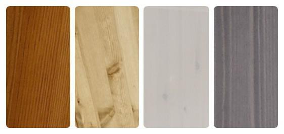 Hochschrank Vitrine Schrank Wohnzimmer Kiefer massiv grau laugenfarbig - Vorschau 2