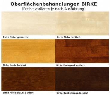 Esszimmer Einrichtung Essgruppe Sideboard Vitrine Birke massiv lackiert braun - Vorschau 2