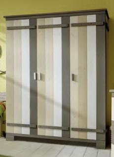 Kleiderschrank Jugendzimmer Kinderzimmer 3-türig Kiefer massiv - Vorschau 1