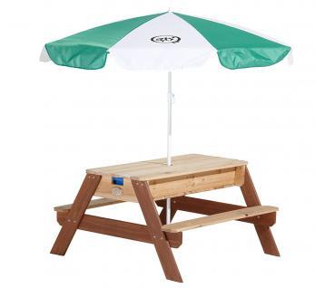 Tisch Picknickstisch Kindertisch Spieltisch Sand Wasser Holz Stauraum Garten - Vorschau 3