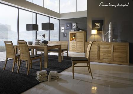 Stuhl Esszimmerstuhl Küchenstuhl Esszimmer Küche Kernbuche massiv geölt Leder - Vorschau 2