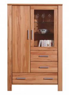 highboard vitrine kernbuche massiv online kaufen yatego. Black Bedroom Furniture Sets. Home Design Ideas