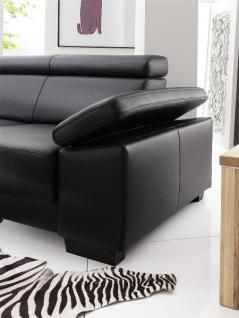 Garnitur Polsterecke Eckgarnitur Ledergarnitur Couch Funktionssofa schwarz Leder W1 - Vorschau 5