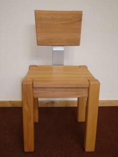 Stuhl Esszimmerstuhl Küchenstuhl Kernbuche massiv hochwertige Stabverleimung - Vorschau 1