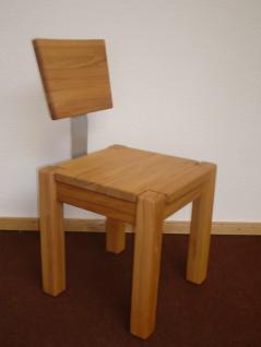 Stuhl Esszimmerstuhl Küchenstuhl Kernbuche massiv hochwertige Stabverleimung - Vorschau 2