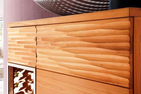 Highboard Sideboard Kommode 2trg li Kernbuche geölt teilmassiv Schropphobelung - Vorschau 2