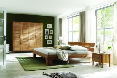 Kleiderschrank Schlafzimmerschrank Schlafzimmer Schrank Kernbuche massiv 4-trg - Vorschau 2