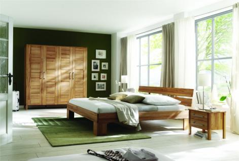Schlafzimmer Gästezimmer komplett 4-teilig Kernbuche massiv geölt