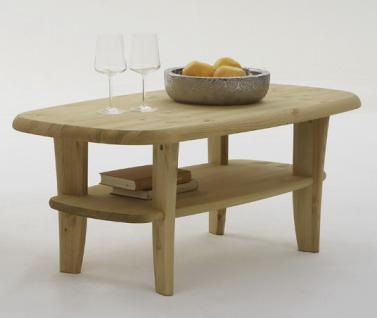 Couchtisch Tisch Beistelltisch Wohnzimmertisch Kiefer massiv geschwungen - Vorschau