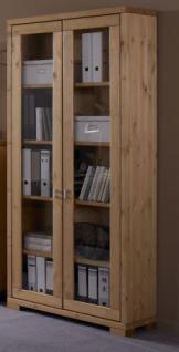 Arbeitszimmer Schreibtisch Bücherregal Rollcontainer Regal Kiefer massiv - Vorschau 4