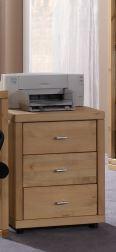 Arbeitszimmer Schreibtisch Bücherregal Rollcontainer Regal Kiefer massiv - Vorschau 3