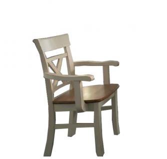 Armlehnstuhl Esszimmerstuhl Lehnstuhl Stuhl mit Holzsitz 2er Set Kiefer massiv