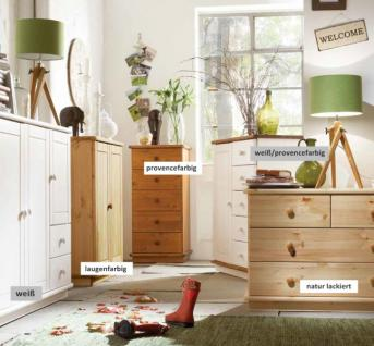 Highboard Kommode Schubladenkommode Landhaus Kiefer massiv lackiert geölt - Vorschau 3