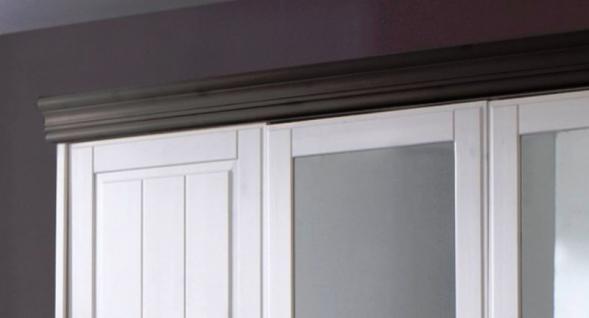 Schrank Kleiderschrank 5türig Spiegeltüren Schubladen Landhausstil Kiefer massiv - Vorschau 4