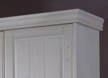 Schrank Kleiderschrank 5türig Spiegeltüren Schubladen Landhausstil Kiefer massiv - Vorschau 5