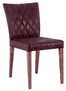 Esszimmerstuhl Stuhl Vierkant Eiche Stoffbezug Esszimmer Polsterstuhl - Vorschau